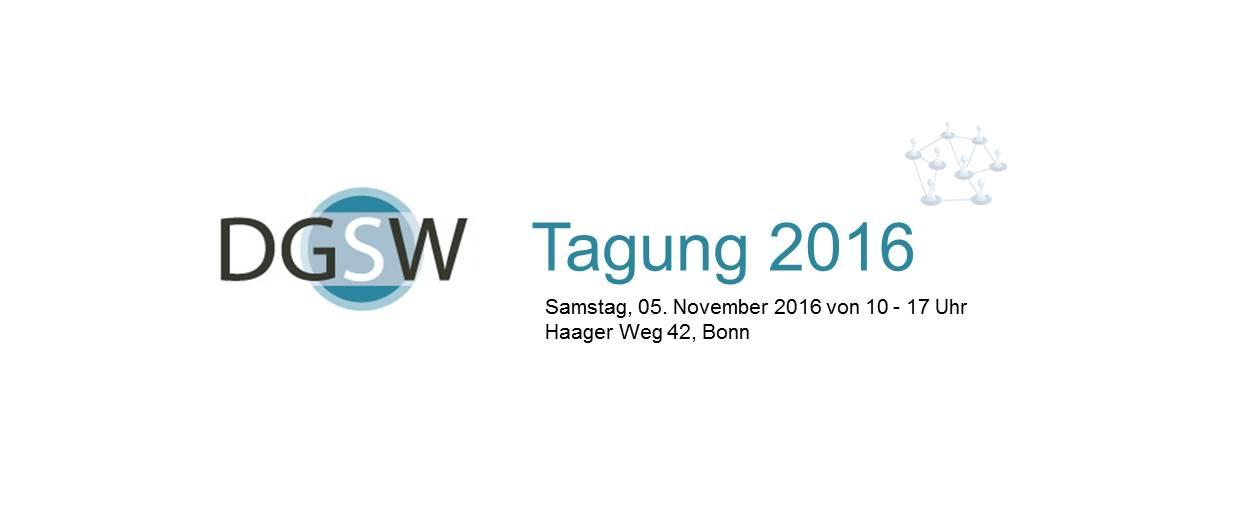 Wir freuen uns über Eure Teilnahme an der diesjährigen DGSW-Tagung in Bonn! Nähere Infos findet ihr hier!